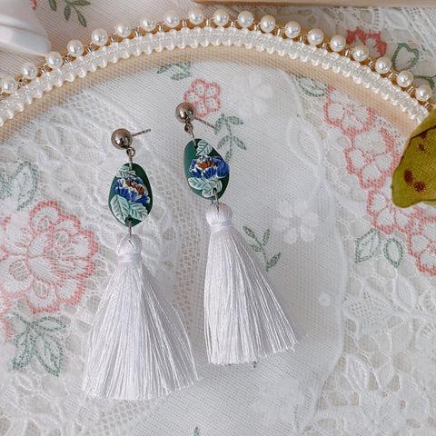 Handmade Polymer Clay Earrings - Lantern 04