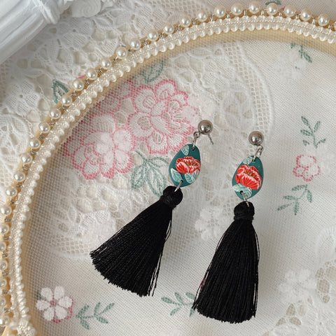 Handmade Polymer Clay Earrings - Lantern 03