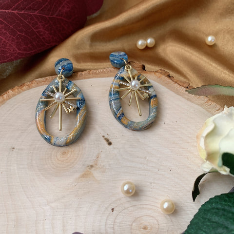 Handmade Polymer Clay Earrings - W09