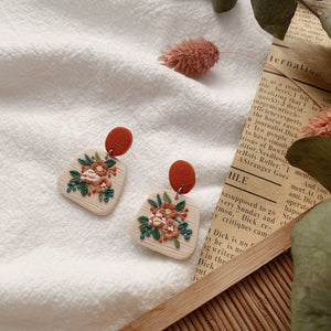 Handmade Polymer Clay Earrings - Fleur Collection Dangle 04