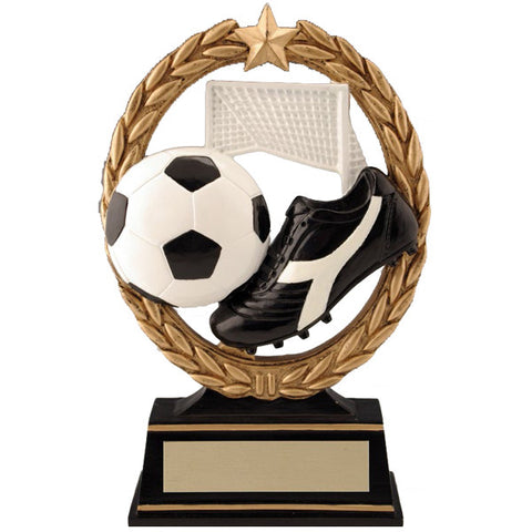 Soccer Trophy - Negative Space - Quest Awards