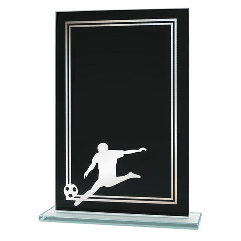 Soccer Plaque - Glass Soccer Award (A3668) - Quest Awards
