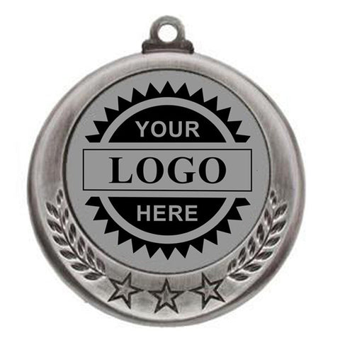 "Logo Insert Medal - SILVER Three Star - 2 3/4"" Diameter"