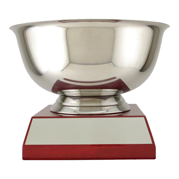 Cups - Stainless Steel - Revere Bowl on Piano-Finish Base (A2376) - Quest Awards