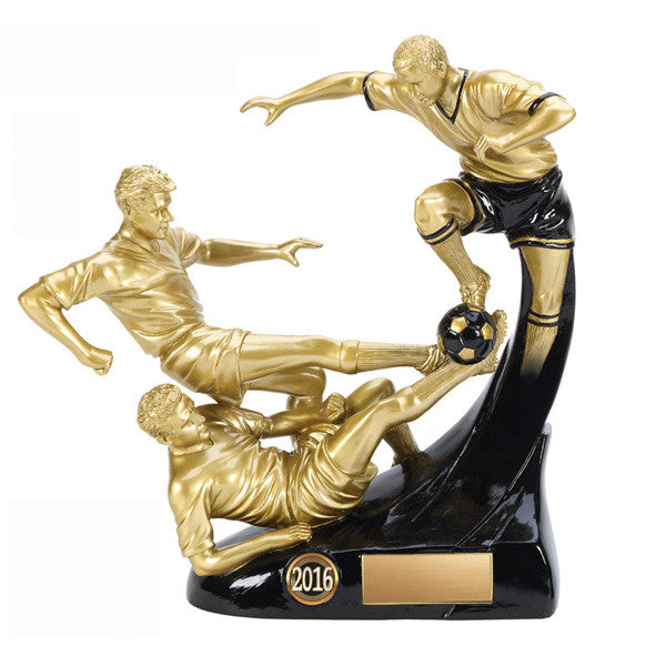 Soccer - Evolution Triple Male Soccer Trophy (A2978) - Quest Awards