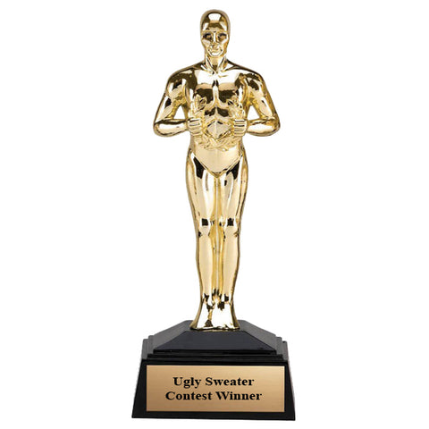 "Ugly Sweater - Mini Oscar Trophy 7 1/4"" Tall (A3643) - Quest Awards"