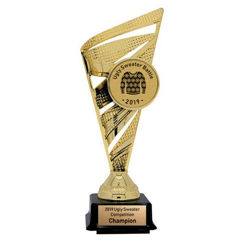 Ugly Sweater Trophy - Solar Series - Gold - 2 Sizes (A3648) - Quest Awards