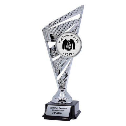 Ugly Sweater Trophy - Solar Series - Silver - 2 Sizes (A3649) - Quest Awards