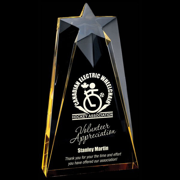 Acrylic Award - Astral Star - Gold (A2058) - Quest Awards