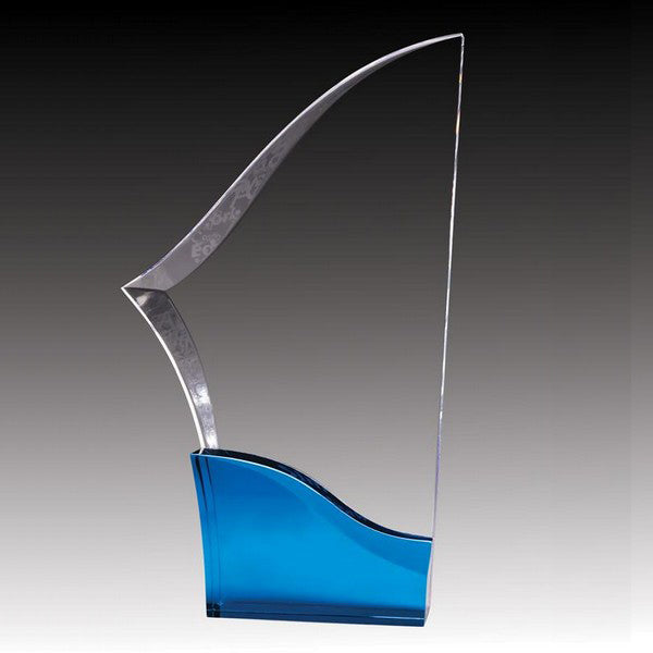 Acrylic Award - Prism Blade - Blue (A2077) - Quest Awards