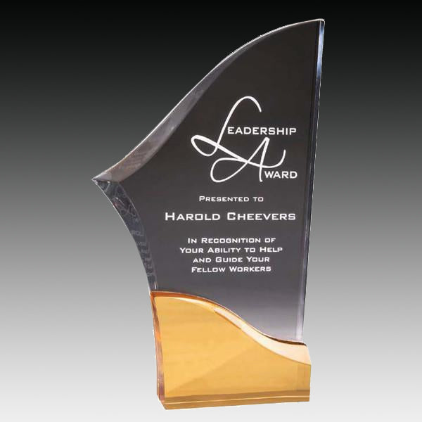 Acrylic Award - Prism Blade - Gold (A2078) - Quest Awards