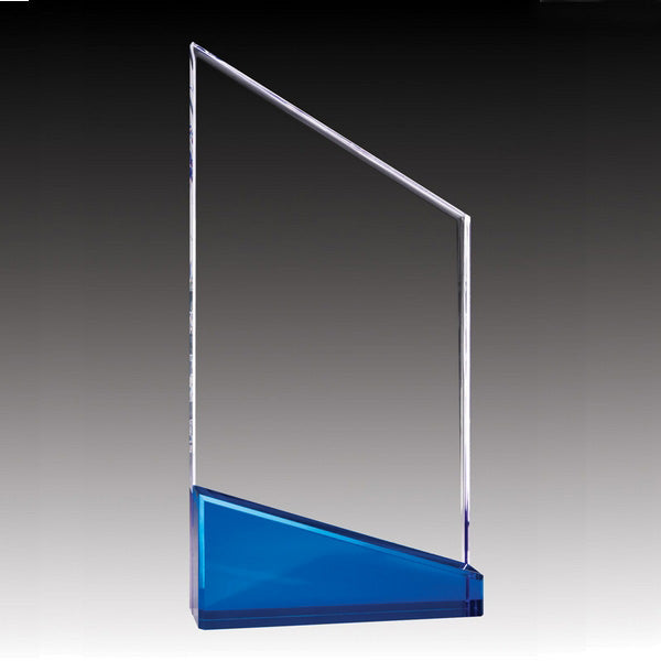 Acrylic Award - Prism Slope - Blue (A2083) - Quest Awards