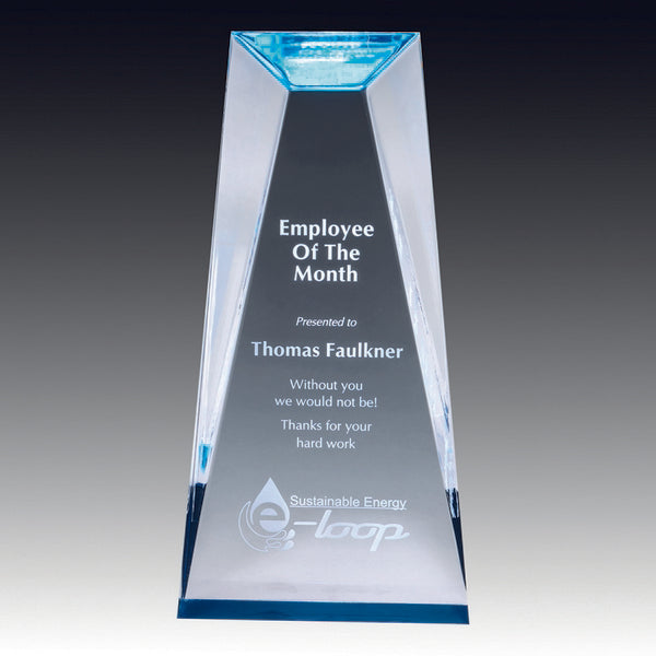 Acrylic Award - Prism Series - Prism Blue (A3207) - Quest Awards