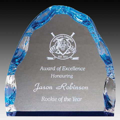 Acrylic Award - Prism Iceberg - Blue (A2079) - Quest Awards