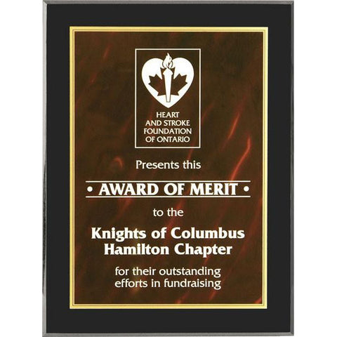 Acrylic Plaque - Red Guelph - Quest Awards