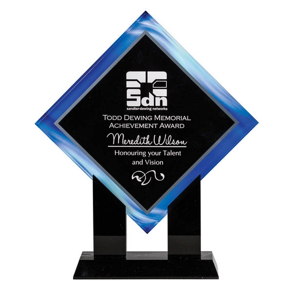Acrylic Award - Diamond Stands Series - Blue (A3303) - Quest Awards