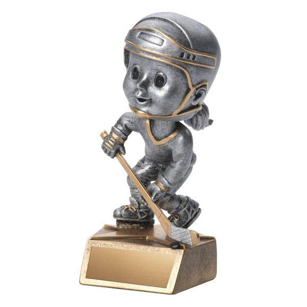 Hockey Trophy - Bobble Head - Girls (A2646) - Quest Awards