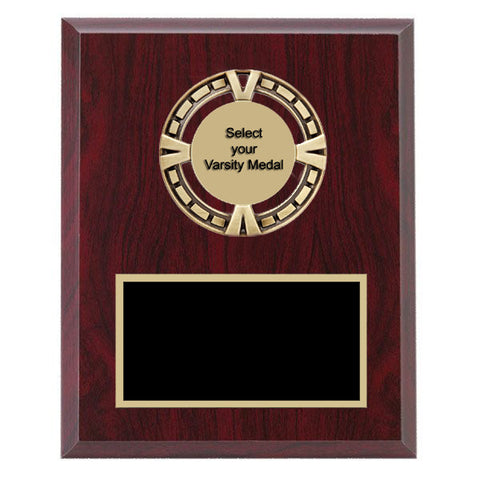 Plaque - Varsity Medal mounted on Laminate Plaque - Quest Awards