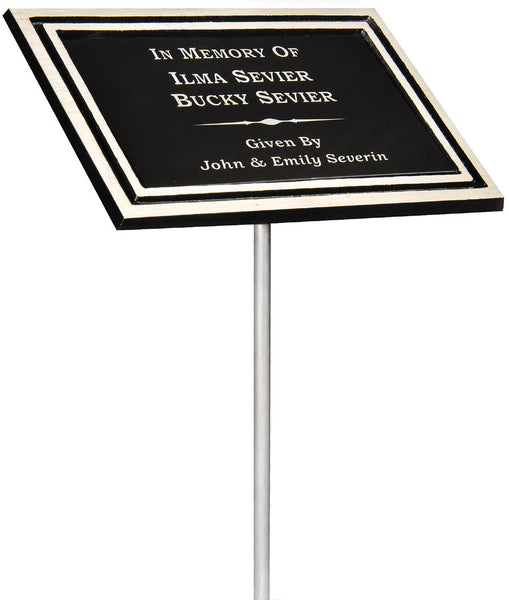 "Plaques - Cast Aluminum Stake Plaque - 6"" x 8"" (A2933) - Quest Awards"