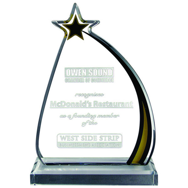 Acrylic Award - Shooting Star (A2093) - Quest Awards