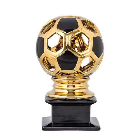 Soccer Trophy - Contempo Ceramic Soccer - Gold - Quest Awards