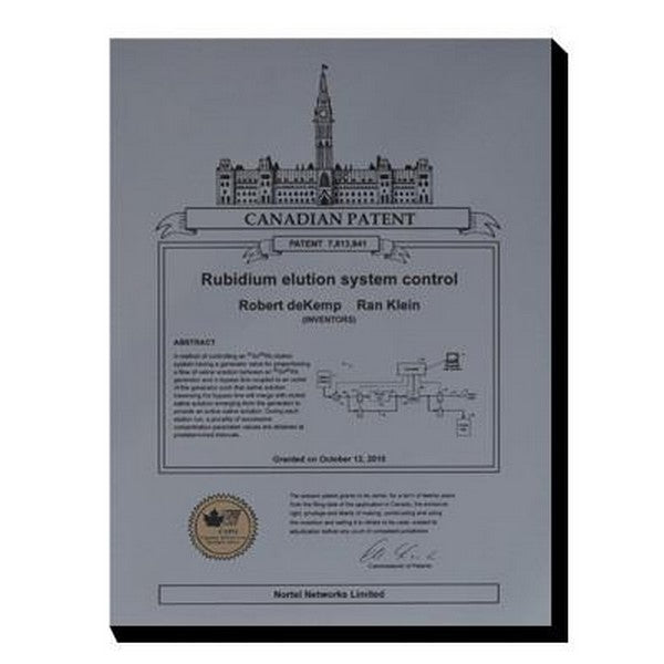Canadian Patent Plaque - Brushed Steel Look (A2259) - Quest Awards