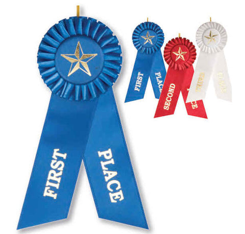 Ribbon - Rosette Placement Ribbon 1st, 2nd and 3rd Place - Quest Awards