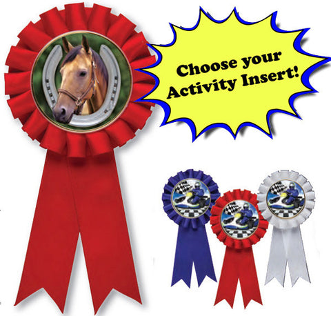 Ribbon - Rosette Ribbon with Activity Insert (A2952) - Quest Awards