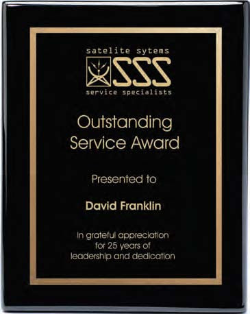 Piano Finish Plaques - Black (A2891) - Quest Awards