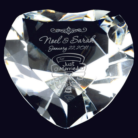 Giftware - Heart Paperweight (A3288) - Quest Awards