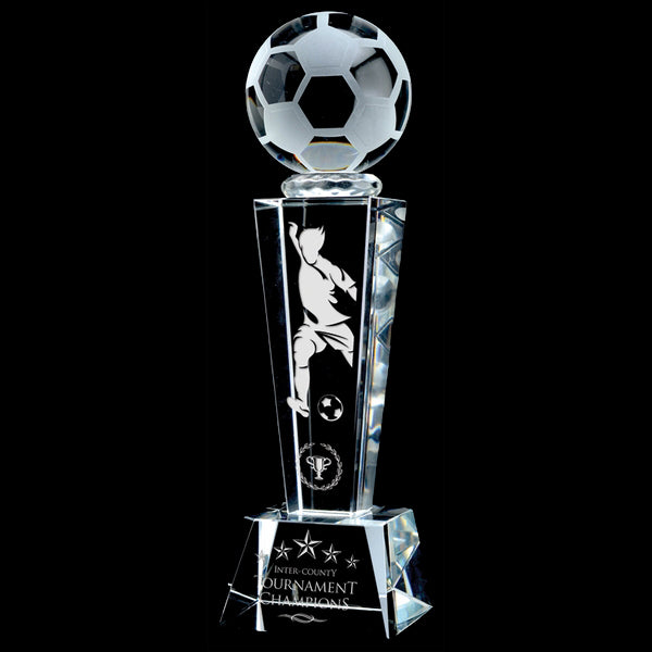 Crystal Award - Vapour - Soccer (A3372) - Quest Awards