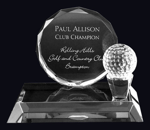 Golf Crystal Award - Golf Galbraithe (A2565) - Quest Awards