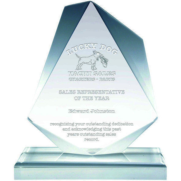 Acrylic Award - Clear Acrylic - Aberdeen (A2061) - Quest Awards