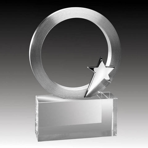 Crystal Award - Alloy Series - Star Ring (A3324) - Quest Awards