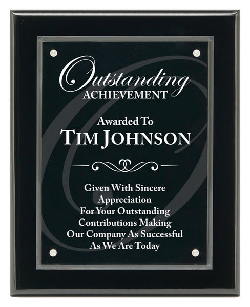 Piano Finish Plaques - Magna Acrylic Black - Quest Awards