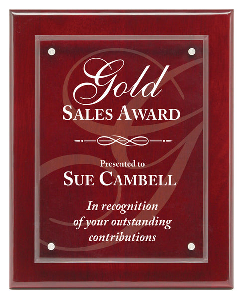 Piano Finish Plaques - Magna Acrylic Rosewood (A2894) - Quest Awards