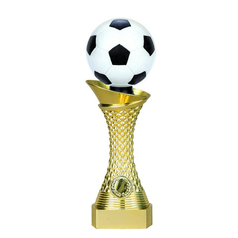Soccer Trophy - 3D Twister - Bright Gold - 3 Sizes (A3554) - Quest Awards