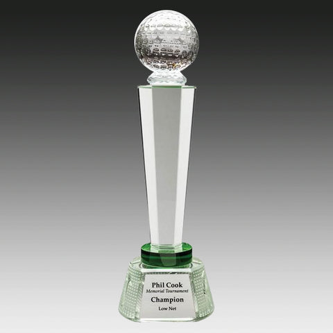 Golf Trophy - Crystal Golf Tower (A2590) - Quest Awards
