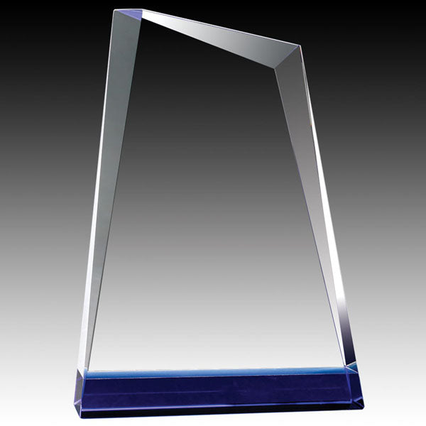 Crystal Award - Apex Blue Bottom (A3501) - Quest Awards