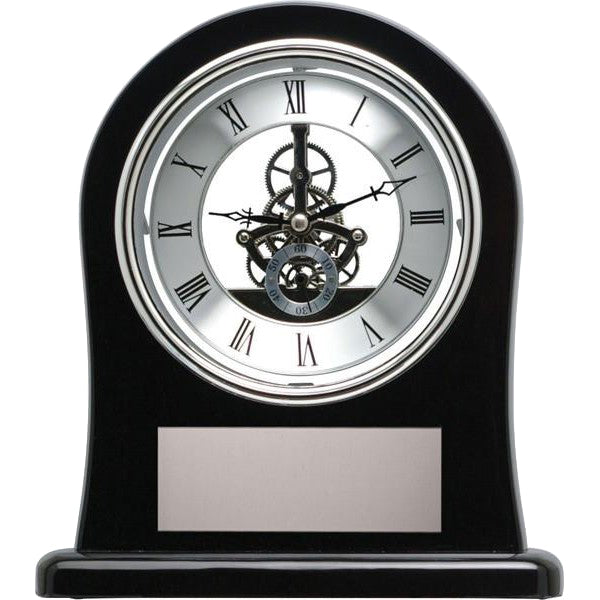 Clock - Piano Finished Black Skeleton Clock (A2272) - Quest Awards
