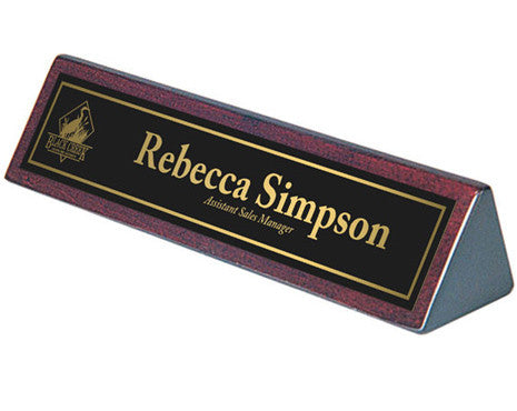 Giftware - Rosewood Name Bar - Quest Awards