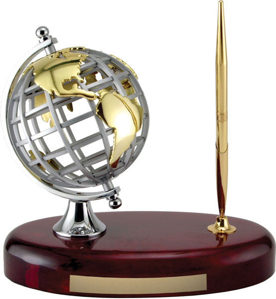Pen Set - Revolving Globe Pen Set - Quest Awards