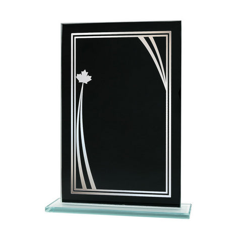 Glass Plaque - Black Reflection Value Series Glass Award (A3700)