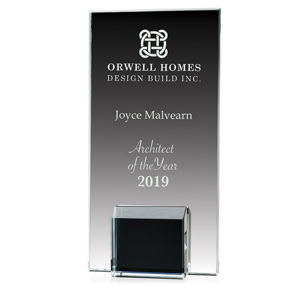 Glass Award - Gemstone Black Block (A3507) - Quest Awards