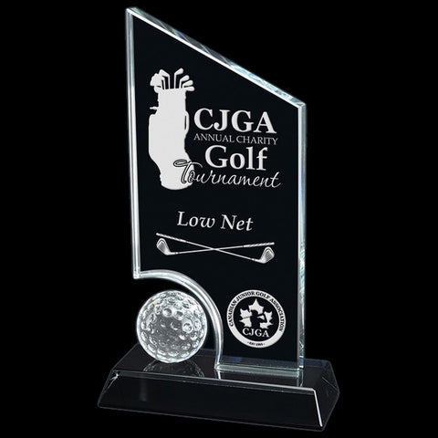 Golf Glass Award - Hidden Lake Glass (A2570) - Quest Awards