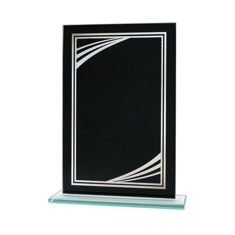 Glass Plaque - Black Reflection Value Series Glass Award (A3701)