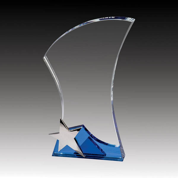 Glass Award - Prestige Series Sleek Star (A3326) - Quest Awards