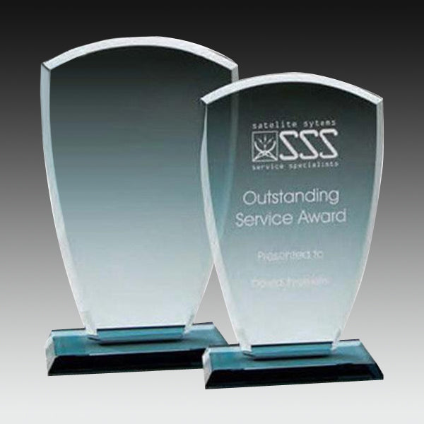 Glass Award - Smoked Glass Upright with Base (A2533) - Quest Awards