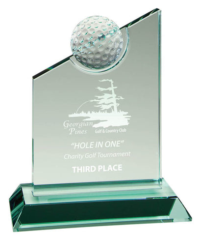 Golf Crystal Award - Golf Series - Summit Award (A2568) - Quest Awards