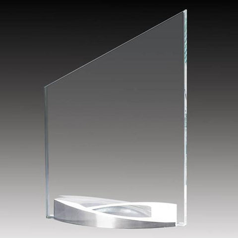Glass Award - Platinum Series - Slope (A2524) - Quest Awards